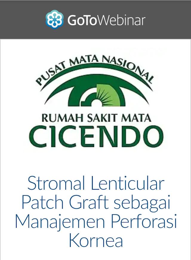 """Free WEBINAR : """"Stromal Lenticular Patch Graft sebagai Manajemen Perforasi Kornea"""" 21 Juni 2019"""