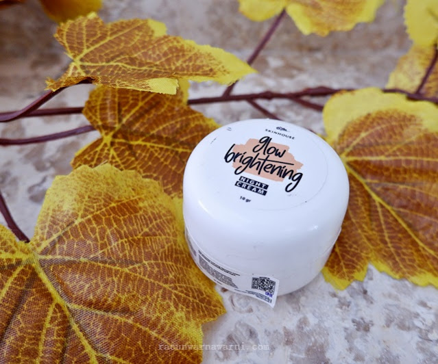 review skinhouse glow brightening night cream