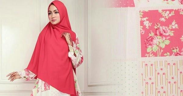 Satu Set Gamis Monalisa Plus Khimar Bubblepop Red - Rp 225 ...