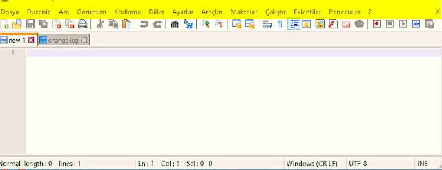 Notepad++ programına bu adresten eklentiler indirip kurarak özelliklerini arttırabilirsiniz.