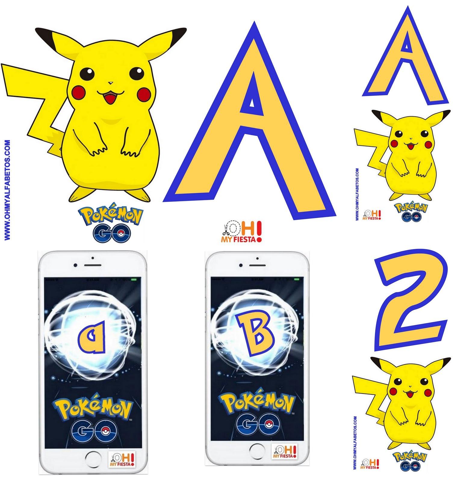 ¡Mira nuestros Alfabetos de Pokemon Go!
