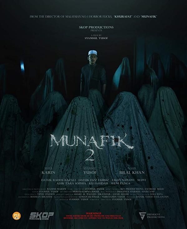 Poster Munafik 2 lakonan Shamsul Yusof dan Maya Karin