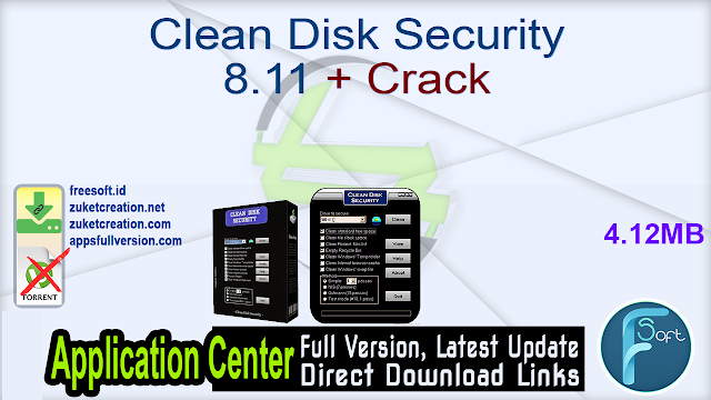 Clean Disk Security 8.11 + Crack