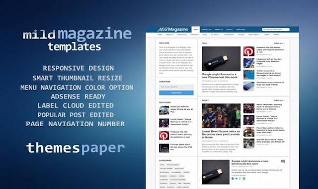 Theme Blogger Mild Magazine