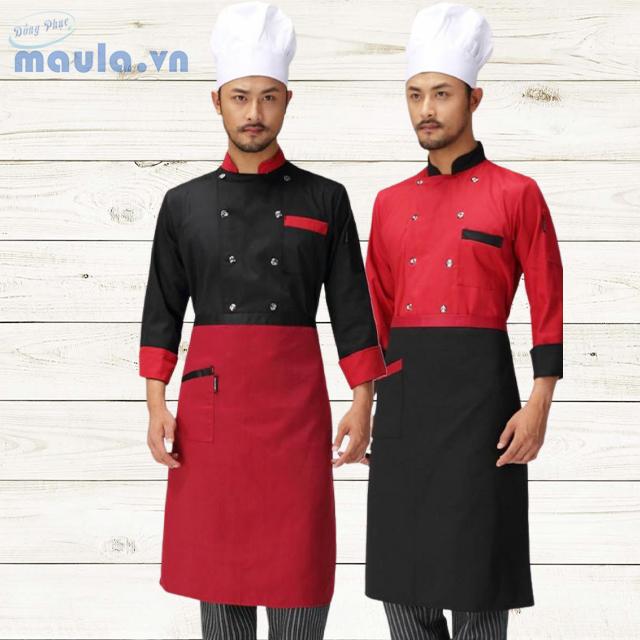 Áo đồng phục đầu bếp theo yêu cầu đủ size nam nữ