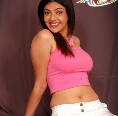 kajal agarwal hot navel show thigh show pink dress images