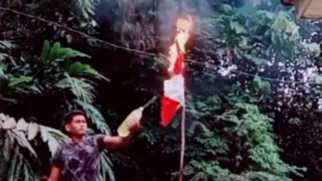 Heboh Bendera Merah Putih Dibakar, Polisi: Pelaku Tinggal di Malaysia