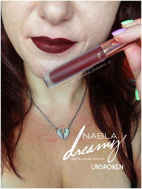 unspoken Dreamy Matte Liquid Lipstick rossetto liquido nabla cosmetics applicazione mouth labbra