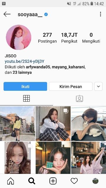 Akun Instagram Jisoo Blackpink