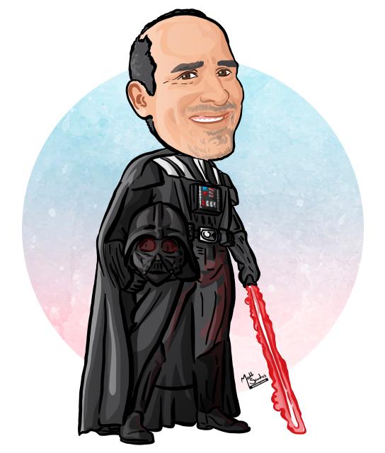 Caricatura Darth Vader Desenho
