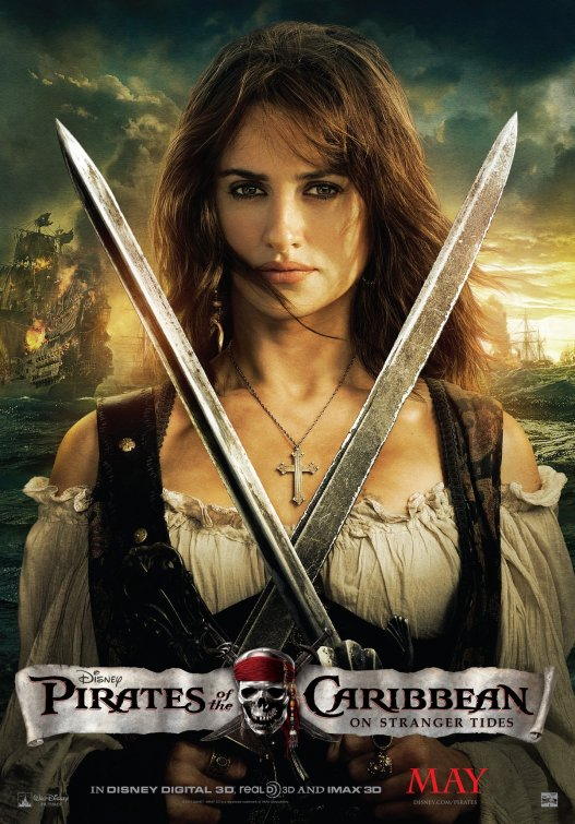 Pirates of the Caribbean 4 Angelica poster