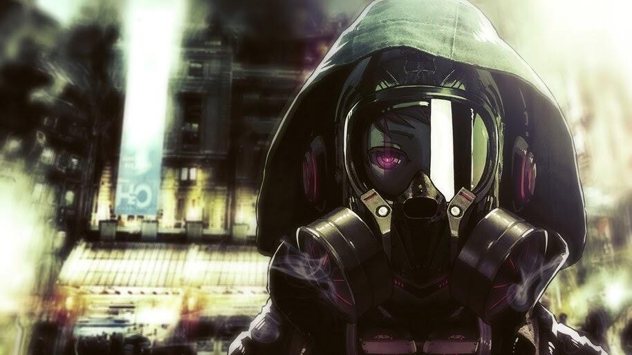 Anime, Hoodie, Gas Mask, 4K, #6.2584