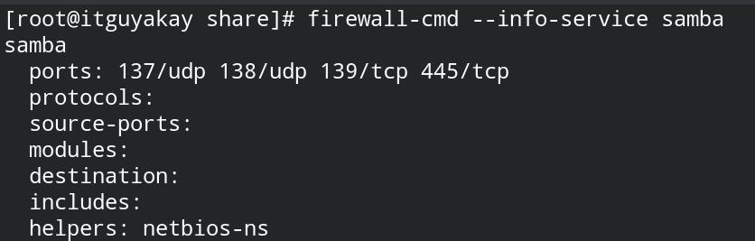 samba server installation and configuration centOS8