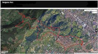 A 12 kilometer running course around Bergamo Città Alta and points behind. Starting point: Piazzetta del Delfino.