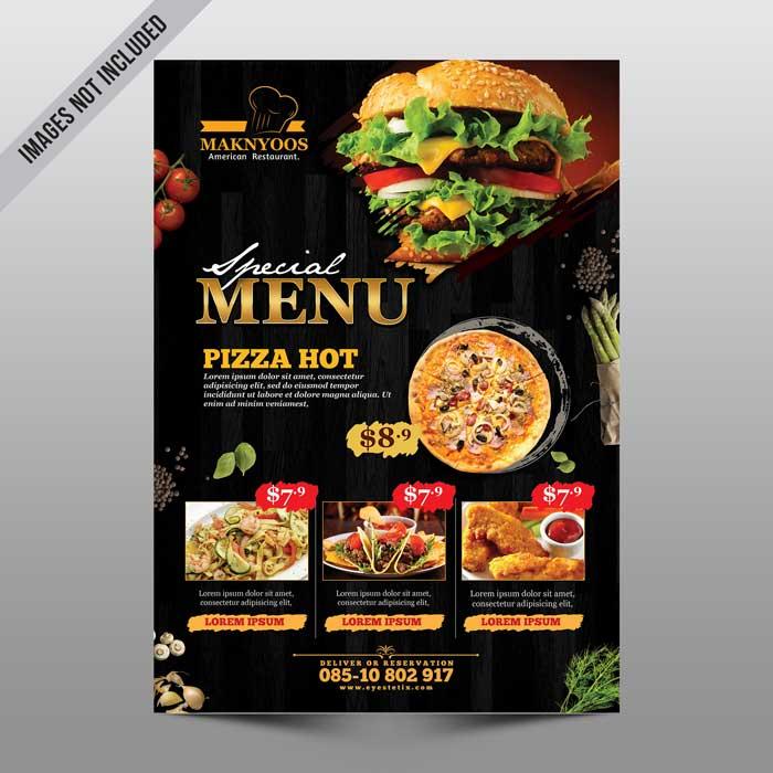 Restaurant Menu PSD Flyer