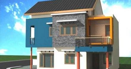 contoh design rumah lantai 2 minimalis modern - rumah