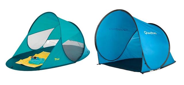 namiot chroniący przed słońcem decathlon