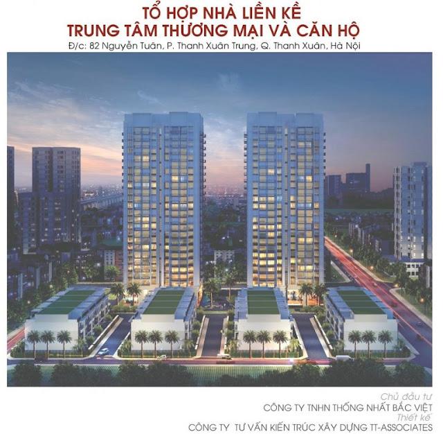 Phối cảnh tổng thể dự án Thống Nhất Complex - 82 Nguyễn Tuân