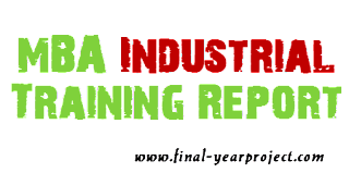 MBA Industrial Training report