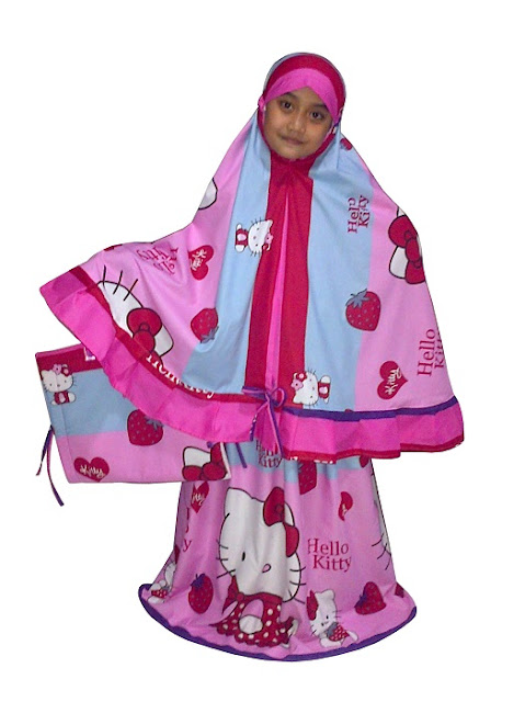 Mukena Anak Karakter Hello Kitty