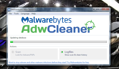 tool pembersih virus adware iklan muncul di peramban browser komputer