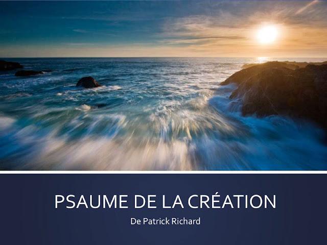 psaume de la creation OUVRIR LA PAGE