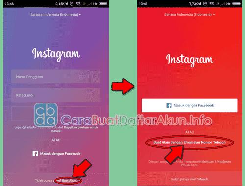 cara membuat instagram 2