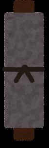 黒い巻物のイラスト