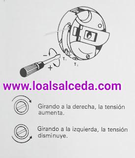Como regular la tensión del hilo de la caja de bobina canillero