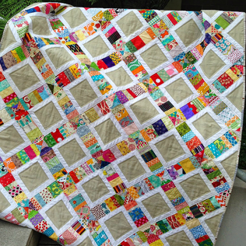 Scrappy Patchwork Quilt - Free Pattern