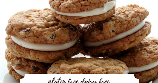 Chocolate Chip Oatmeal Creme Pies- Little Debbie Copycat- Gluten Free & Dairy Free