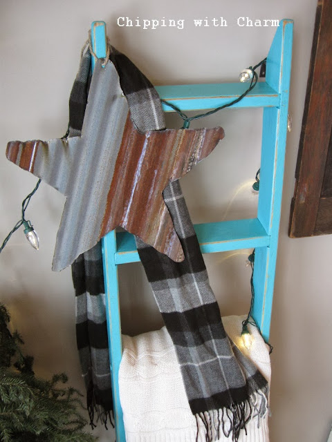 Chipping with Charm: Galvanized Stars...http://chippingwithcharm.blogspot.com/