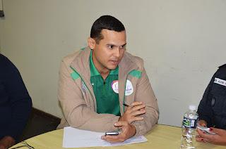 Delegado Clever Farias, da equipe que faz a segurança do percurso da Tocha Olímpica pelo Brasil, percorreu o trajeto na cidade