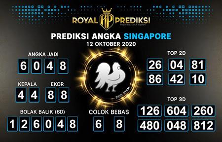 Royal Prediksi SGP Senin 12 Oktober 2020