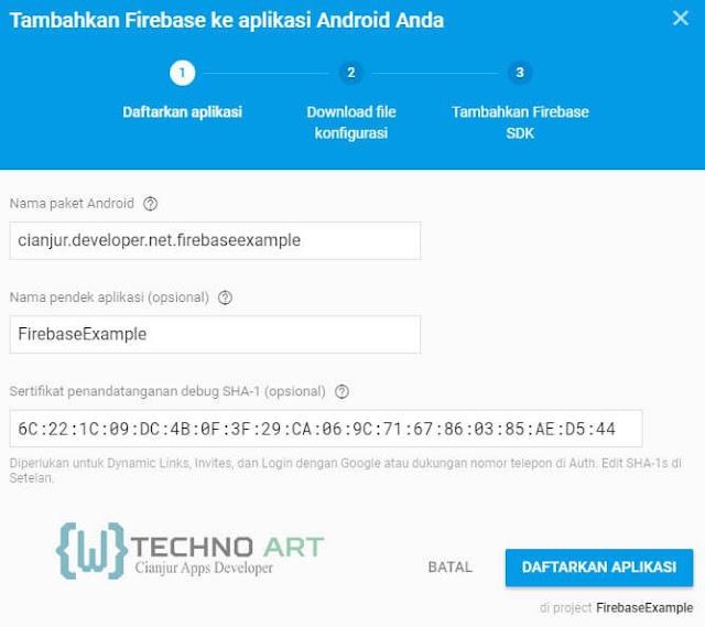WildanTechnoArt-Mendaftarkan Project Aplikasi pada Firebase