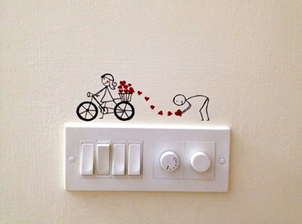 Wall Painting On Switchboard