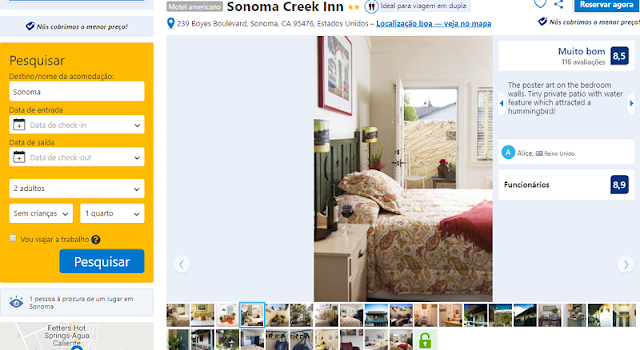 Estadia no Hotel Sonoma Creek Inn