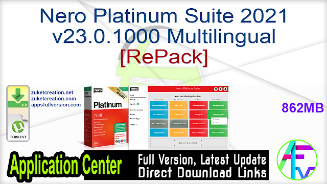 Nero Platinum Suite 2021 v23.0.1000 Multilingual[RePack]