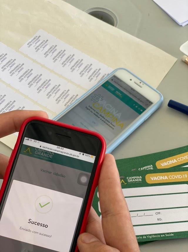 Covid-19: Campina Grande lança aplicativo para cadastro e agendamento da vacinação