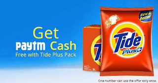 PayTm Tide Plus Cashback Offer