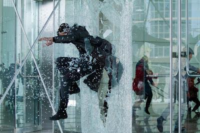 John Harrison (Benedict Cumberbatch) smashing it, Harrison doesn't need doors in Star Trek Into Darkness, in cinemas May 17