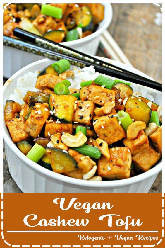This vegan take on the classic Chinese take out is more delicious than anything you can ge Vegan Cashew Tofu