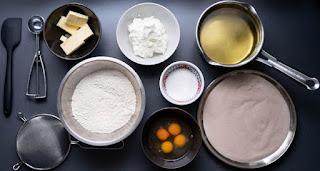 Vorbereitung - alle Zutaten abgewogen und benötigte Utensilien bereit gelegt
