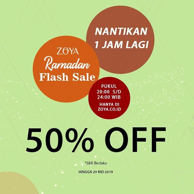 #Zoya - #Promo Diskon 50% OFF di Ramadhan Flash Sale (s.d 29 Mei 2019)