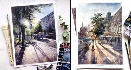 00-Anastasia-Kústova-Architectural-Watercolor-Paintings-En-Plein-Air-www-designstack-co