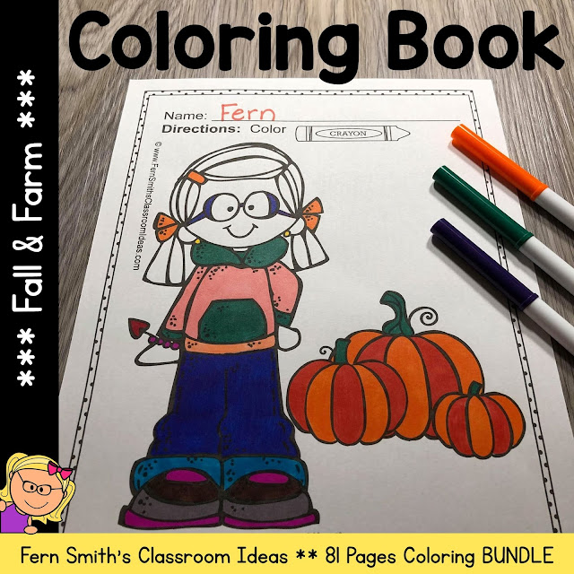 Fall & Farm Coloring Pages - 81 Pages of Fall and Farm Coloring Fun from #FernSmithsClassroomIdeas