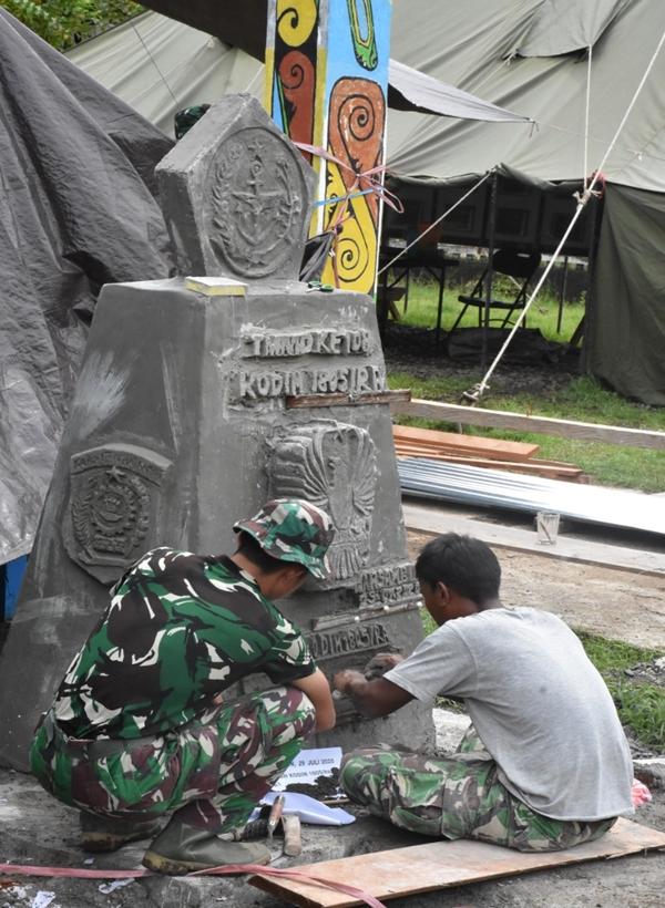 Peletakan Batu Pertama Kegiatan TMMD Ke-108 di Raja Ampat, Ini Kata Danrem 181/PVT!