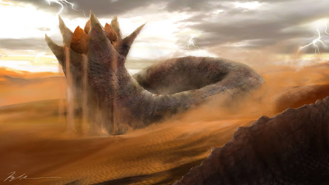 Dune worm artwork