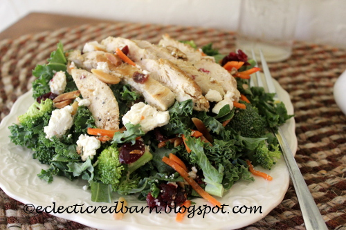 Eclectic Red Barn: Kale, Broccoli Chicken Salad