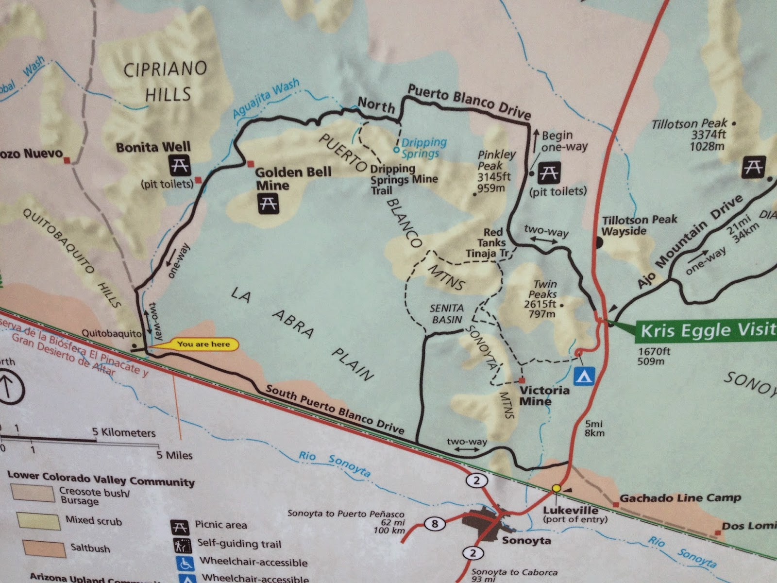 Map of Organ Pipe NM